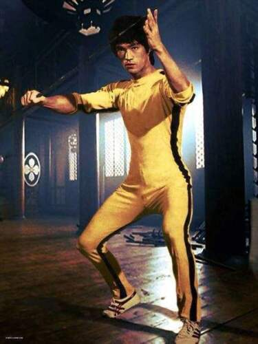Bruce Lee Chinese Kung Fu Martial Arts Unisex Yellow Jumpsuit Costume Adult/&Kids
