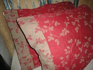 Dillard S Excellence Red Tan Leaves Vines Damask Pair