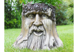 Amazing Green Man Planter Novelty Planter Tree Stump plant holder LOTR A
