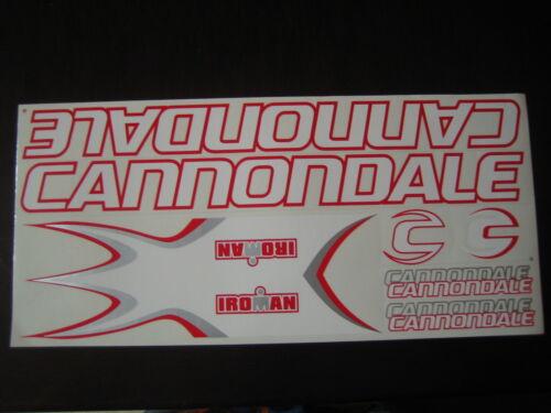 ROUGE /& ARGENT. Cannondale Stickers Set BLANC