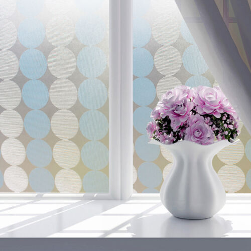 Frosted Privacy Glass Window Film Sticker Bedroom Bathroom Home Decor 17x78inch