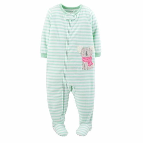 New NWT Girls 4T Carters Microfleece footed pajamas blanket sleeper PICK color