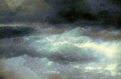 Art oil painting Ivan Constantinovich Aivazovsky - Between Waves canvas 36""
