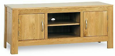 Henley solid oak furniture low TV cabinet unit stand