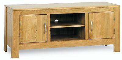Henley solid oak furniture low TV cabinet unit stand