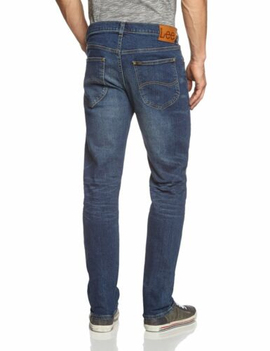 Lee Daren New Men's Slim Fit Denim Jeans Vintage Epic Blue Straight Leg Faded