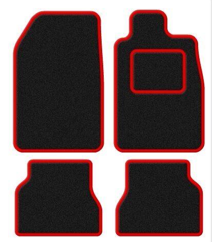 Velour Black//Red Trim Car mat set Saab 9000 97