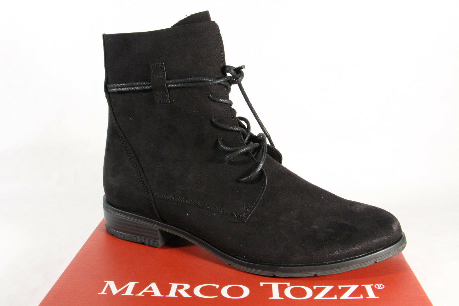 Marco Tozzi Women's Boots Ankle Boots Lace up Boots, Boots Black 25112 New
