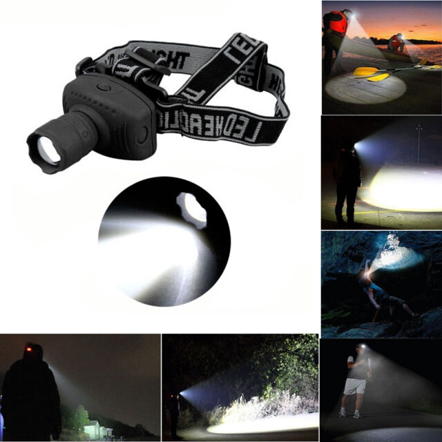 Durable XM-L T6 LED Head Torch Headlamp Headlight Flashlight Torch for Camping