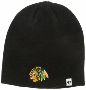 be6e118678d6f NIP NHL Chicago Blackhawks  47 Brand Toddler Black Beanie Knit Hat ...