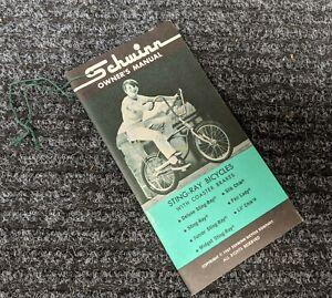 SCHWINN 1967 Bicycle Stingray Owners Manual - Original  67 Bike  NOS