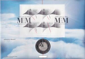 GB-QEII-PNC-moneda-Cubierta-1999-2000-Milenio-momento-B-UNC-Royal-Mint