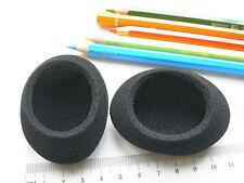 2 ovale Ohrpolster / Schaumstoff zB f. Logitech,Sony MDR-M55, MDR-65 usw