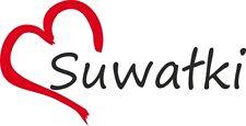 """Auto Aufkleber """" SUWALKI """" Sticker Suwalken Stadt Polen ca.8x16cm konturgeschn."""