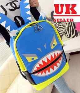 Japanese Cartoon Backpack School Bag Shoulder Bag H112 Blue
