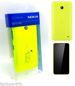 100-Genuine-Nokia-CC-3079-Shell-Case-Cover-For-Lumia-630-and-635-Yellow-New