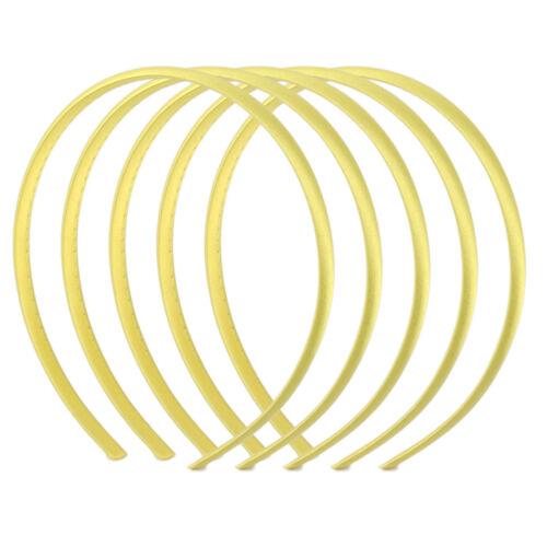 5x Haarreifen Haarband Satin Haarreif Damen Haarschmuck Headband Breite 10mm DIY