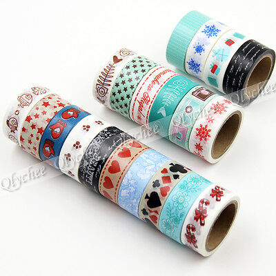 1pc 5M Cute Pattern Washi Tape DIY Decorative Sticky Stationery Adhesive Sticker