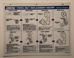 fiat dealer service \u201chelper\u201d sheet timing belt replacement spider Nissan Timing Belt image is loading fiat dealer service helper sheet timing belt replacement