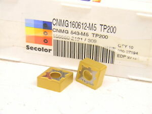 New-Surplus-10pcs-CNMG-543-M5-Grade-TP200-Seco-Carbide-Inserts