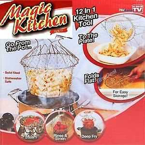 12-in-1-Magic-Kitchen-Folding-Chef-Basket-Colander-Strainer-Steamer-Drainer