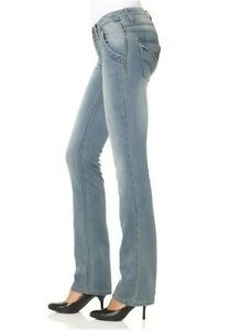4Wards-Jeans-Latin-NEU-Kurz-Gr-18-19-L30-Damen-Stretch-Light-Blau-Used-Hose