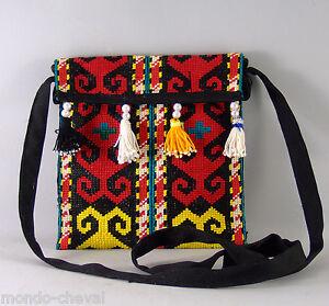Bandouliere Tissu Pochette De Traditionnel Kirghizstan Point Gobelins n7aqvpn0W
