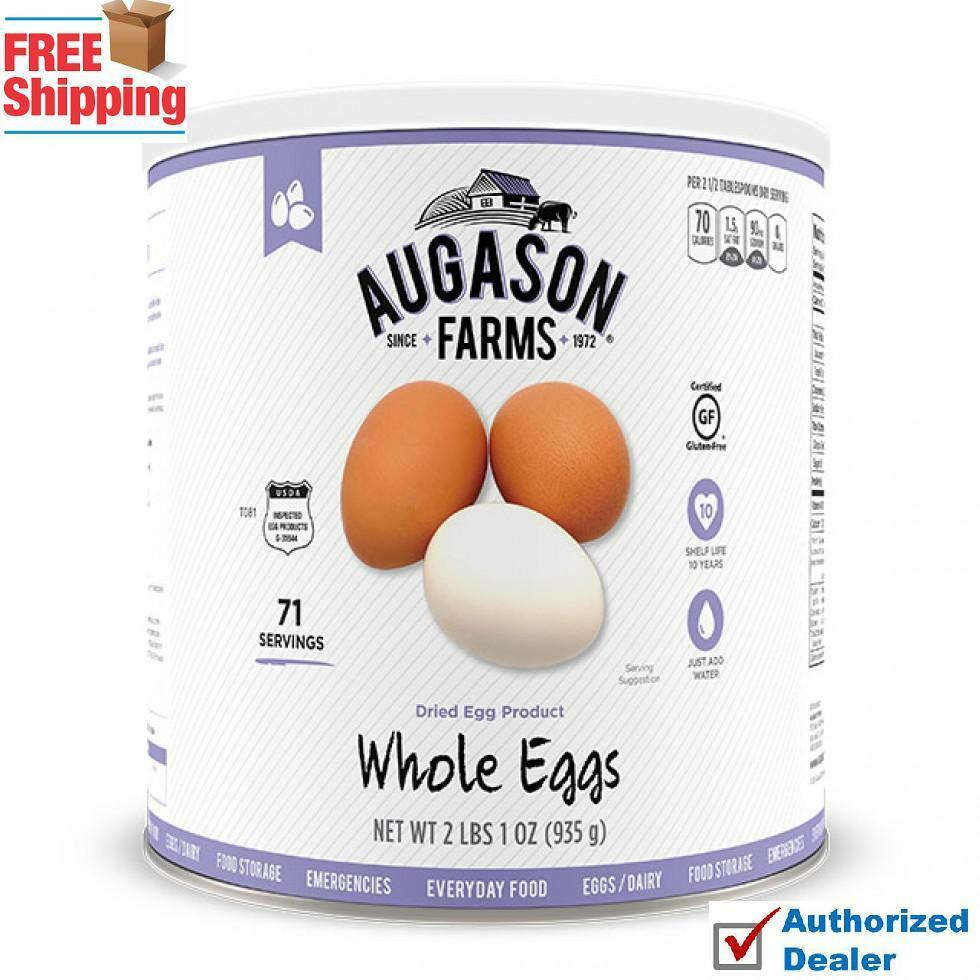 Augason Farms 71 Servings DRIED WHOLE EGGS   POWDERED EGGS CAN