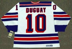 sports shoes 3adb3 50354 Details about RON DUGUAY New York Rangers 1981 CCM Vintage Home NHL Hockey  Jersey