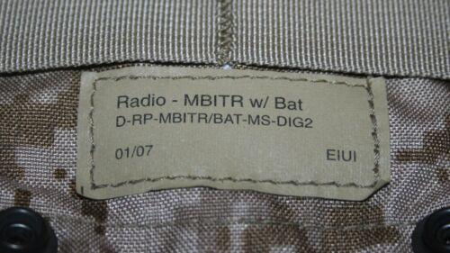 NEW DIG2 AOR1 EAGLE MBITR RADIO PRC 148 152 MOLLE POUCH W//BAT 01//07 SEAL DEVGRU