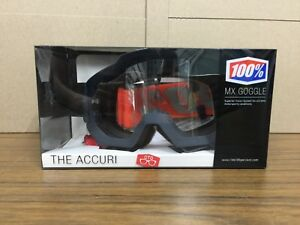 New-100-Gunmetal-Grey-Accuri-OTG-MX-Goggles-Clear-Lens-50204-025-02