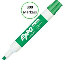 Low Odor Dry Erase Markers Chisel Tip 80004 Green Bulk Size Pack Of 300 Each