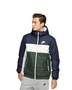 Nike-Doudoune-Bomber-Down-Bubble-Padded-Jacket-Homme-Vert-bleu-SYN-FILL