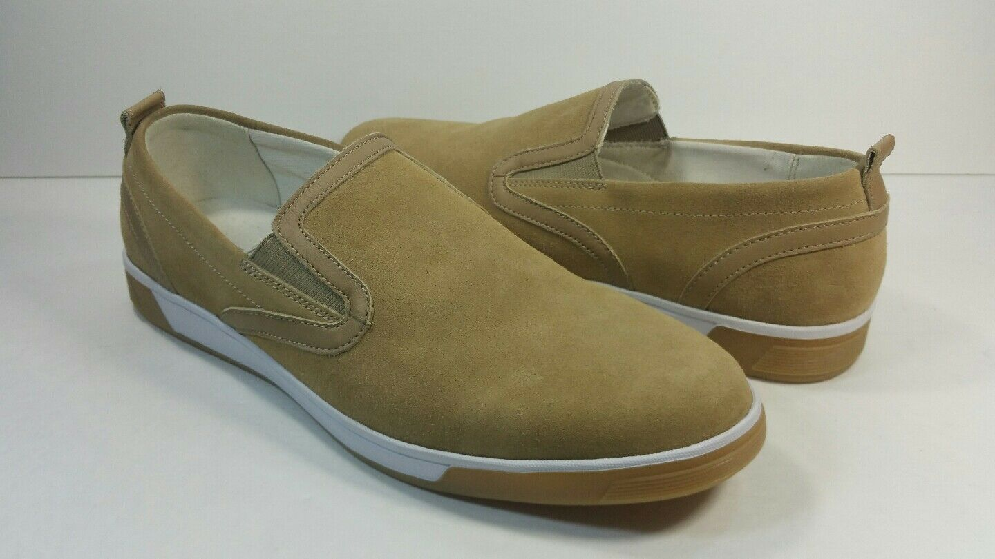Cole Haan Men's Beige Suede Slip On Loafers - Size 10M