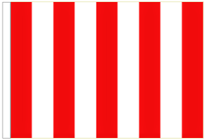 Red And White Striped 3/' x 2/' Medium-Sized Sleeved Flag
