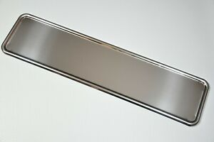 1-x-TOP-CHROME-STAINLESS-STEEL-NUMBER-PLATE-SURROUND-HOLDER-FRAME