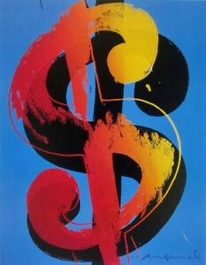 Image Is Loading Dollar Sign Blue By Andy Warhol Art Print
