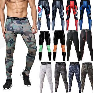 Men-Athletic-Compression-Tight-Base-Layer-Pants-Long-Workout-Leggings-Gym-Sport