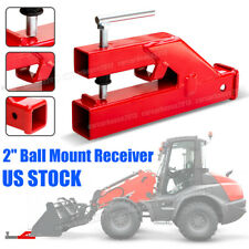 Clamp On Trailer Hitch 2 Ball Mount Receiver For Deere Bobcat Tractor Bucket Us