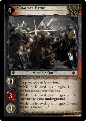 LOTR TCG Chamber Patrol 13R104 Bloodlines Lord of the Rings NEAR MINT