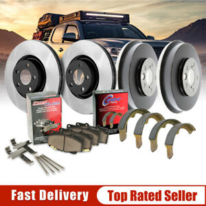2006 2007 2008 for Toyota Yaris Brake Rotors and Ceramic Pads w//R-Drum F+R