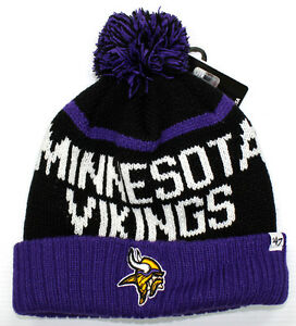 Image is loading NFL-NEW-AUTHENTIC-47-BRAND-MINNESOTA-VIKINGS-BEANIE- c9e4d836d0cf