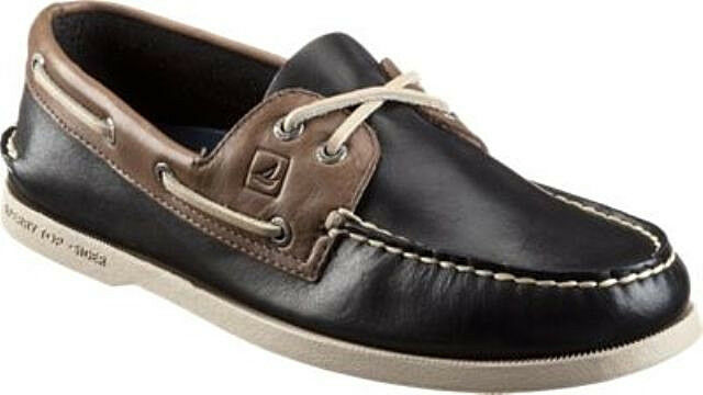 110 Mens 11.5 Sperry Authentic Original Two Tone 2-Eye Boat shoes Black Grey