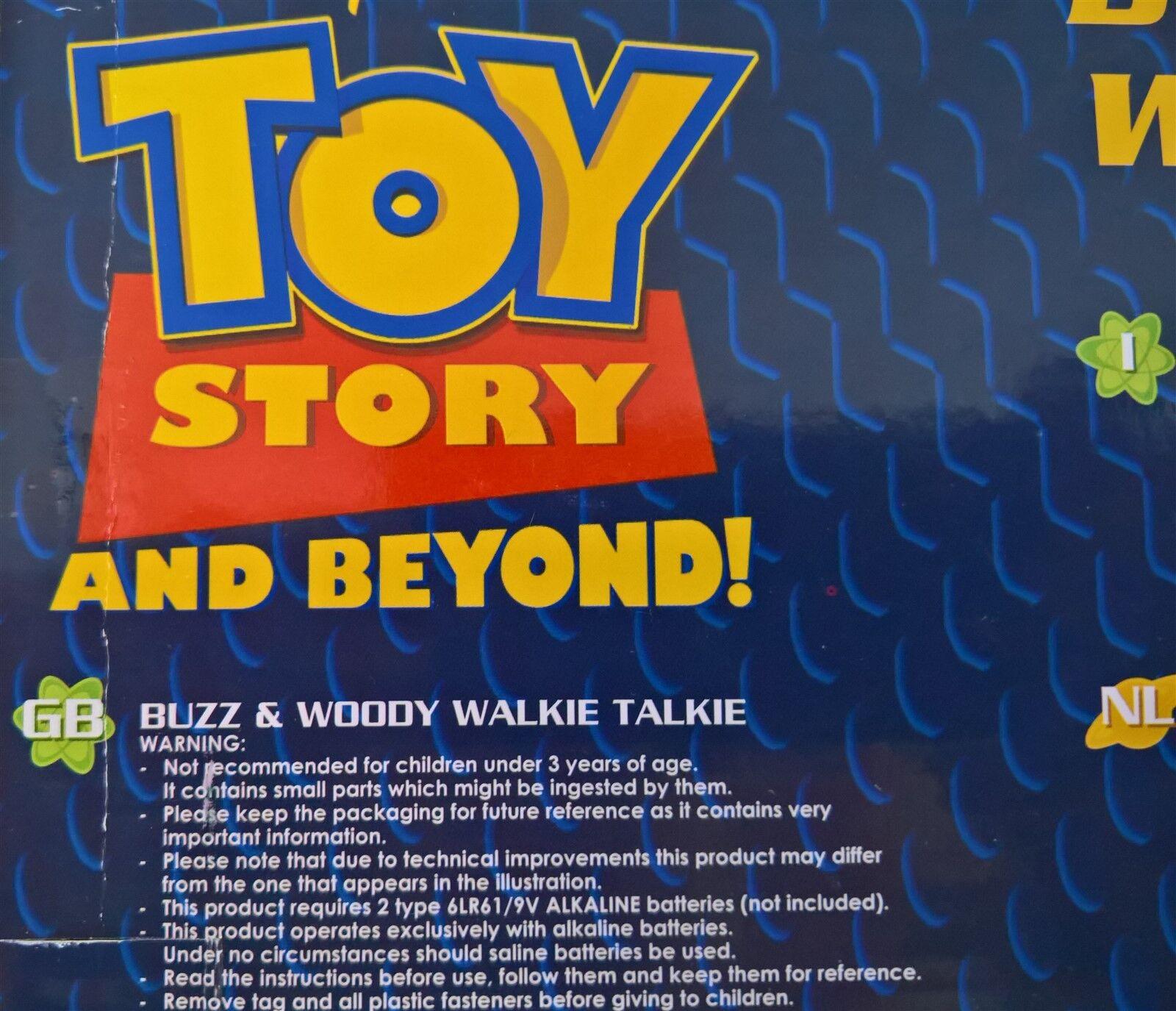 Toy - Story - Toy BUZZ & WOODY WALKIE TALKIE FIGURES 25cm cfaffd
