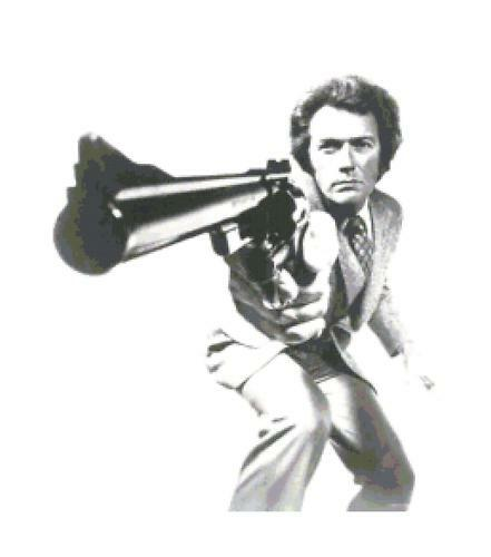Clint Eastwood Dirty Harry Counted Cross Stitch Pattern Needlepoint