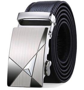 Siplion Men's leather belts 100/% genuine Black