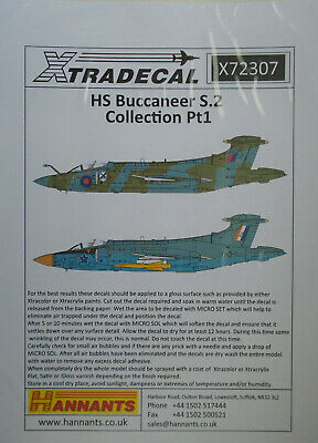 Xtradecal 1//72 X72307 HS Buccaneer S.2 Collection Pt 1 Decal Set