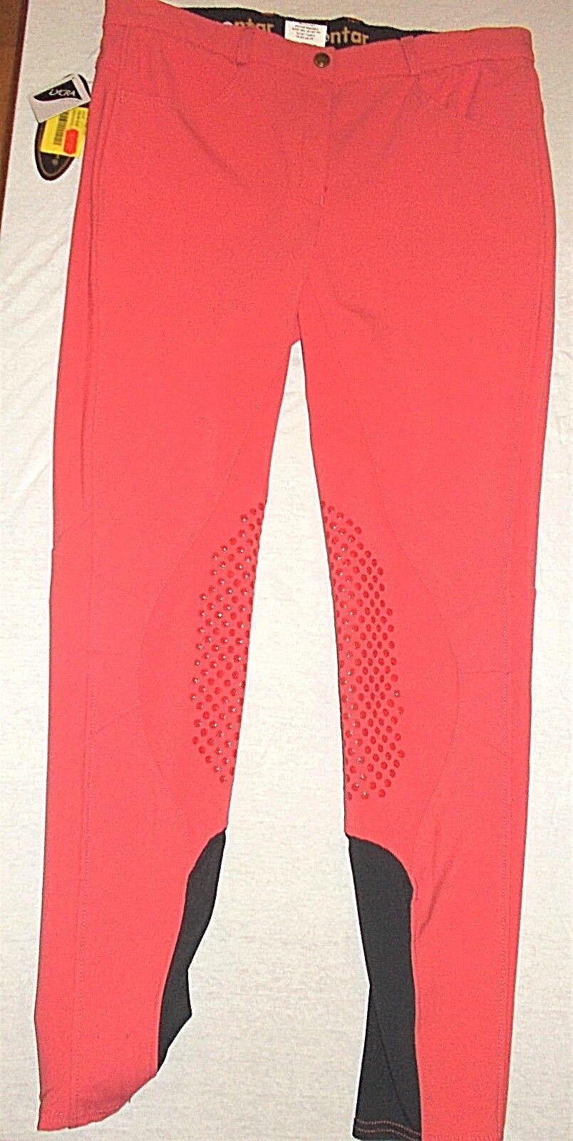Montar Grip Reithose Kniebesatz, red, Gr. 40(519a)