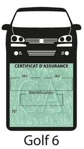 Porte assurance auto Volkswagen GOLF 6 Stickers rétro - France - État : Neuf: Objet neuf et intact, n'ayant jamais servi, non ouvert. Consulter l'annonce du vendeur pour avoir plus de détails. ... Marque: SAR - France
