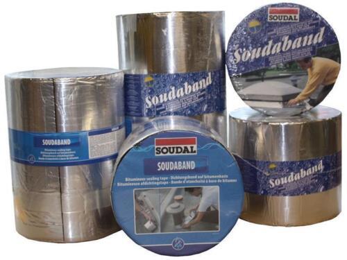 Soudal Soudaband Aludichtband Bitumenband Dachband Gr.225mm x 10m />alu